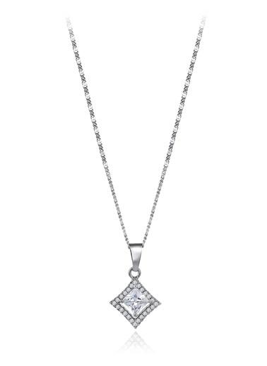 0,60 Ct Pırlanta Efekt Altın Entourage Princess Kolye-Tophills Diamond Co.